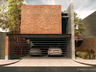 FACHADA: Casas de estilo  por 75 Arquitectura
