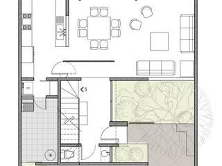 PLANTA BAJA Casas modernas de KSA Taller de arquitectura Moderno