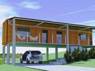 Casa Container, Gramado RS: Casas  por Aparatto Arquitetura,Moderno