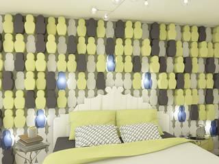 «Заводные матрешки» для Школы Ремонта Спальня в эклектичном стиле от Студия Интерьерных Решений Десапт Эклектичный
