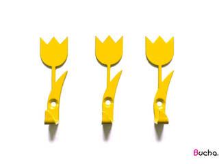 Tulipan wieszak na ubrania, ręczniki, klucze, Tulipany: styl , w kategorii  zaprojektowany przez Bucha