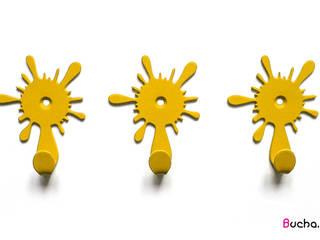 Wieszaki na ubrania do przedpokoju w kolorze żółtym od Bucha Nowoczesny