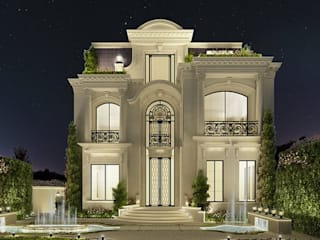 Exploring Luxurious Homes : Enchanting Exterior Architecture IONS DESIGN Classic style houses Stone White