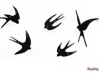 Jaskółki ozdobny wieszak do przedpokoju ścienny: styl , w kategorii  zaprojektowany przez Bucha