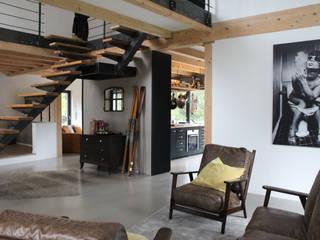 Гостиная в . Автор – GRID architektur + design