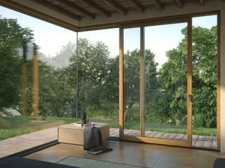 Alzanti scorrevoli Finestre & Porte in stile moderno di Qr legno srl Moderno