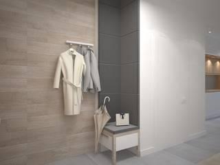 Mieszkanie na Mokowie Skandynawski korytarz, przedpokój i schody od ZAWICKA-ID Projektowanie wnętrz Skandynawski