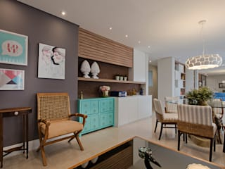 Modern Oturma Odası Branca Vieira Arquitetura e Design Modern
