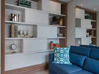 Home Theather por Branca Vieira Arquitetura e Design Moderno