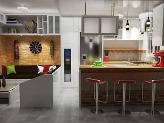 Diseño Sala-Cocina/Comedor : Comedores de estilo  por Rbritointeriorismo