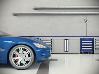 Garage / Hangar de style  par 3d 2.0 di Alberto Lamacchia, Moderne