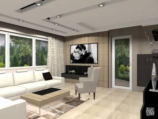 salon: styl , w kategorii  zaprojektowany przez Projektowanie Wnętrz ART LINE