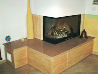 Falegnameria Martinelli Sergio Living roomFireplaces & accessories Wood