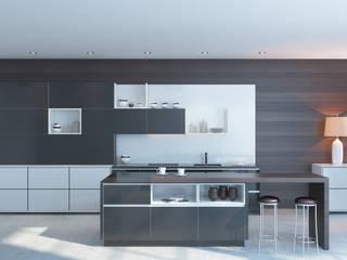 Моделинг кухонных гарнитуров:  в . Автор – студия визуализации и дизайна интерьера '3dm2', Минимализм