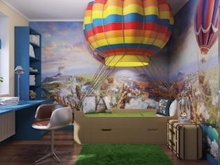 Визуализация тематической детской комнаты: Детские комнаты в . Автор – студия визуализации и дизайна интерьера '3dm2', Минимализм