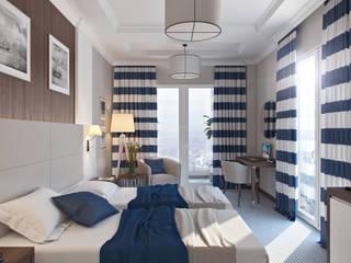 Minimalistische hotels van студия визуализации и дизайна интерьера '3dm2' Minimalistisch