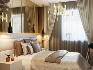Minimalistische slaapkamers van студия визуализации и дизайна интерьера '3dm2' Minimalistisch