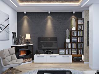Living room by студия визуализации и дизайна интерьера '3dm2', Minimalist