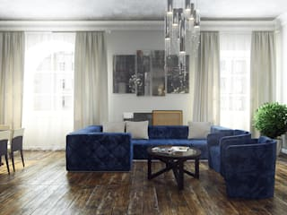 Industrial style living room by студия визуализации и дизайна интерьера '3dm2' Industrial