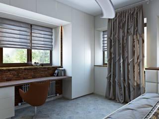 Визуализация спальни + детской: Спальни в . Автор – студия визуализации и дизайна интерьера '3dm2'