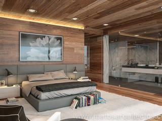 House by River side Quartos modernos por Matos Architects Moderno Madeira maciça Multicolor