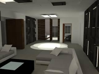 Interiores de Vivienda Acosta Salones minimalistas de Arq. Jose F. Correa Correa Minimalista