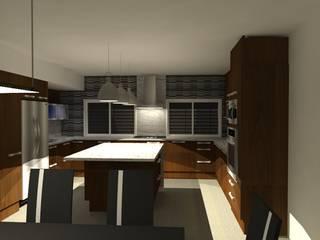 Interiores de Vivienda Acosta Cocinas minimalistas de Arq. Jose F. Correa Correa Minimalista