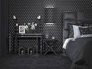 Интерьер спальни для модельера: Спальни в . Автор – Yurov Interiors,