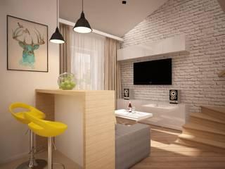 дизайн-бюро ARTTUNDRA Living room Bricks Yellow