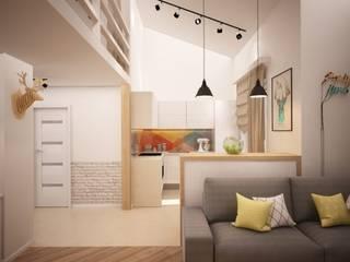 дизайн-бюро ARTTUNDRA Living room Wood Beige