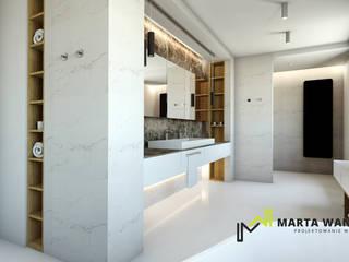 salon kąpielowy/łazienka: styl , w kategorii  zaprojektowany przez Marta Wanat Projektowanie Wnętrz