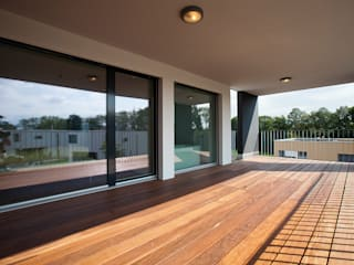 Terrazas de estilo  de Hunkeler Partner Architekten AG, Moderno