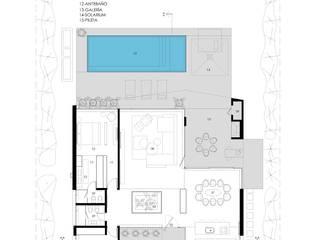 PLANTA GENERAL Casas minimalistas de VISMARACORSI ARQUITECTOS Minimalista