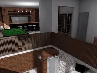 Casa Sin Rostro: Salas multimedia de estilo  por ARQUITECTURA MB&A