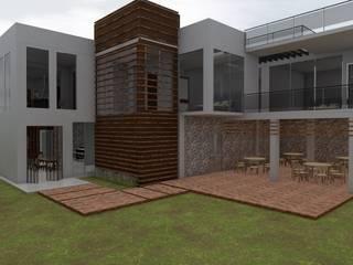 Casa Sin Rostro: Jardines de estilo  por ARQUITECTURA MB&A