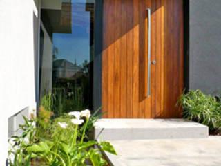 CASA BR - Estudio Fernandez+Mego Pasillos, vestíbulos y escaleras modernos de Estudio Fernández+Mego Moderno