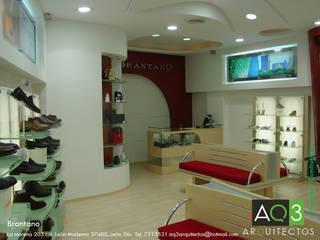 Tiendas Brantano:: Espacios comerciales de estilo  por AQ3 Arquitectos