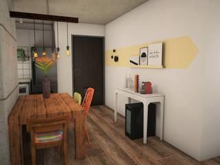 Apê GA - Maxhaus: Cozinhas  por Estúdio Ventana