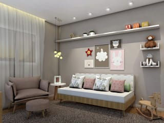 Nursery/kid's room by Konverto Interiores + Arquitetura,