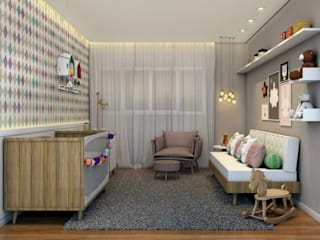 scandinavian Nursery/kid's room by Konverto Interiores + Arquitetura