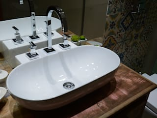 Baños de estilo  por Camila Chalon Arquitetura, Rústico