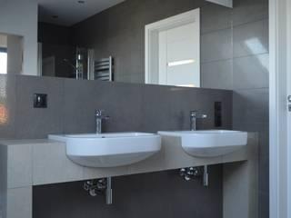 Grafitowe łazienki: styl , w kategorii Łazienka zaprojektowany przez Mleczko architektura