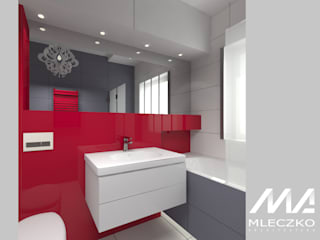 Łazienka z akcentem: styl , w kategorii Łazienka zaprojektowany przez Mleczko architektura