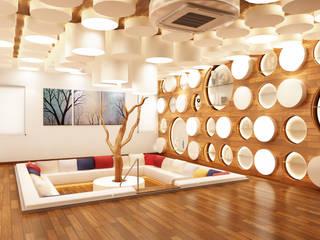 Mr. Ramesh Residence at Neyveli:  Living room by Dwellion