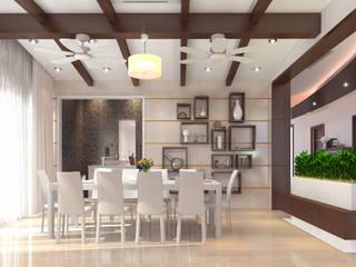 Mr. Ramesh Residence at Neyveli Modern dining room by Dwellion Modern