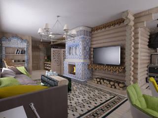 Студия дизайна Натали Хованской Eclectic style living room