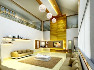 Mr. Ehiya Residence at Tanjore:  Living room by Dwellion