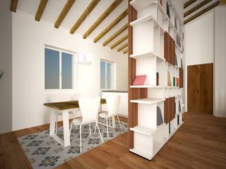 Residenza al Duomo: Sala da pranzo in stile  di B+P architetti