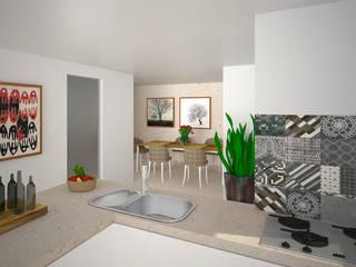 Interior Galceti: Cucina in stile  di B+P architetti