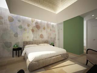 Sgarrone - albergo rurale: Camera da letto in stile  di B+P architetti
